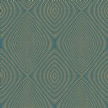 Passenger Wallpaper TP21283 Rhombus Green By DecoPrint For Galerie